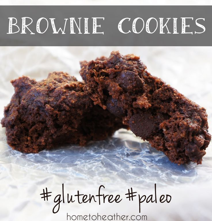 "Low carb cookies  Paleo Brownie Cookies  Vegetarian • Gluten free • 20 mins to make ""These cookies are so easy to make and my whole family loves them!  #paleo #glutenfree #grainfree"""