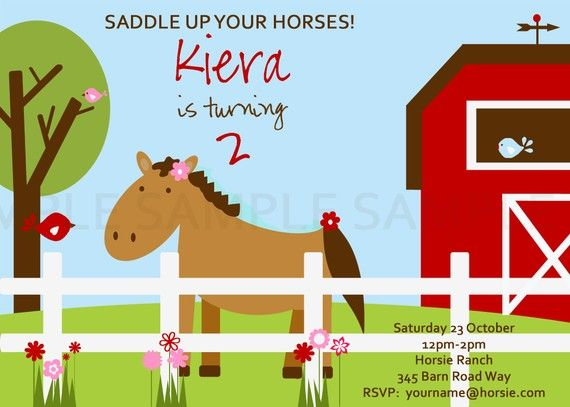 Invite for pony party