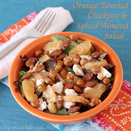 Orange Roasted Chickpea & Spiced Almond Salad with Sherry Citrus Vina ...