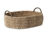 Seagrass Oval Tray with Rattan Handles williams sonoma