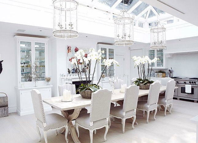 Conservatory kitchen kitchen pinterest for Dining room off kitchen