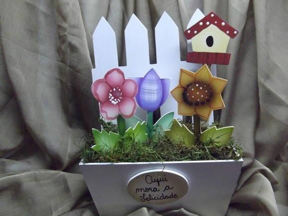 artesanato jardim encantado : artesanato jardim encantado:Floreira jardim encantado