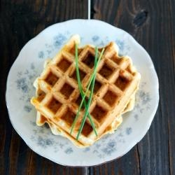 Savory Cheddar and Chive Waffles | Get Out That Waffle Maker... | Pin ...