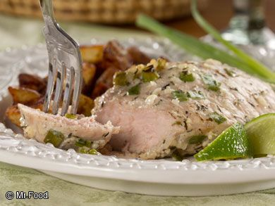 ... pork chop recipe features an aromatic lime and garlic marinade that'll