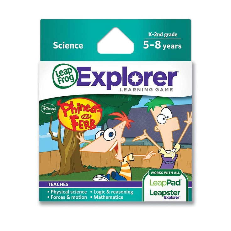 Educational Games Toys R Us : Leapfrog explorer learning game phineas ferb