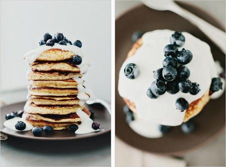 Lemon pancakes with blueberries. | Blueberries | Pinterest