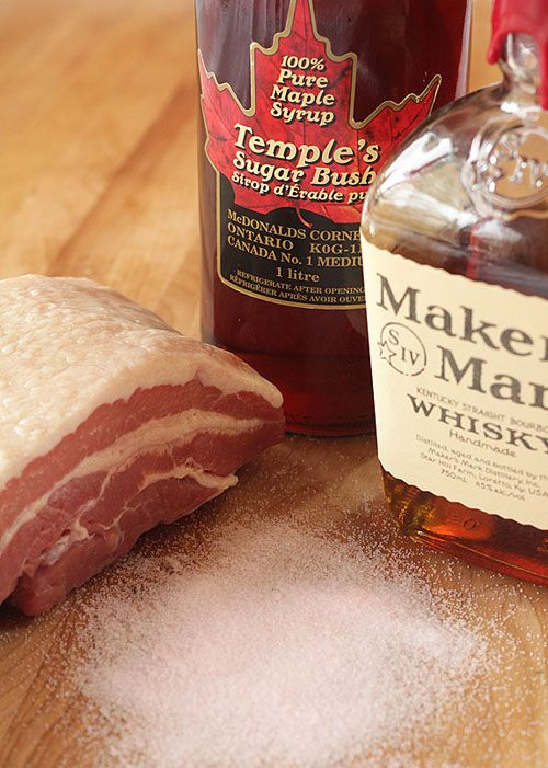 home cured maple bourbon bacon
