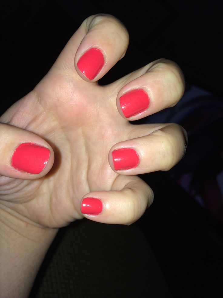 """in """"Redgy."""" Love the shine and getting the gel look without a uv light"""