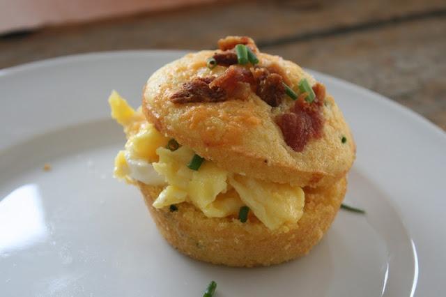 Cheddar Bacon Corn Muffin Egg Sandwich recipe. Love this! New favorite ...