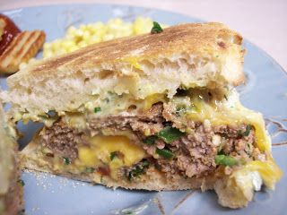 ' In The Kitchen: Cheddar stuffed cilantro jalepeno turkey burgers ...