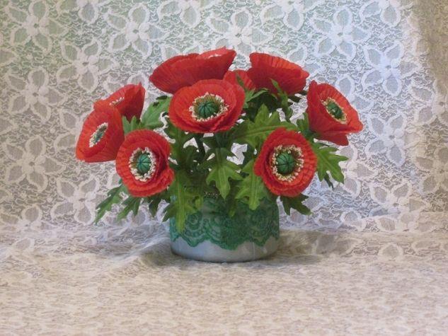 Цветы из атласных лент в картинках