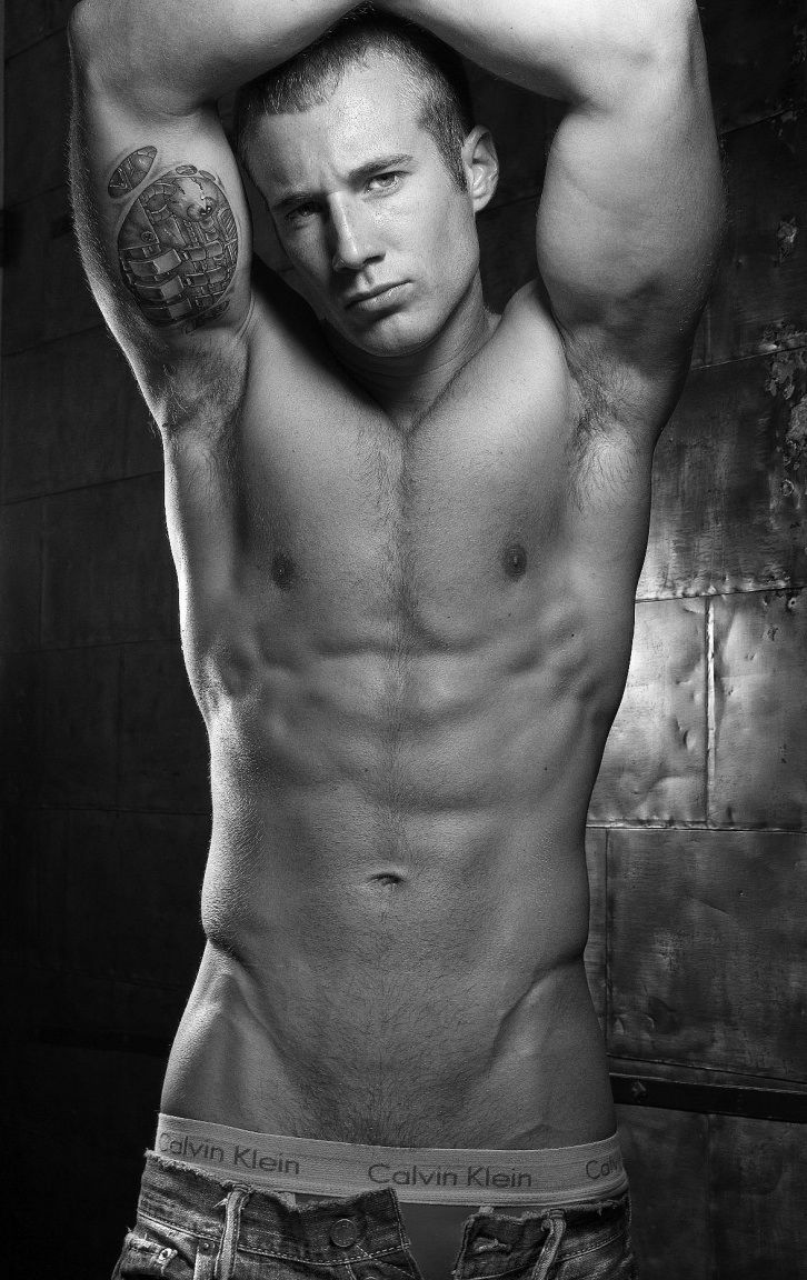 Nude shaved male athletes