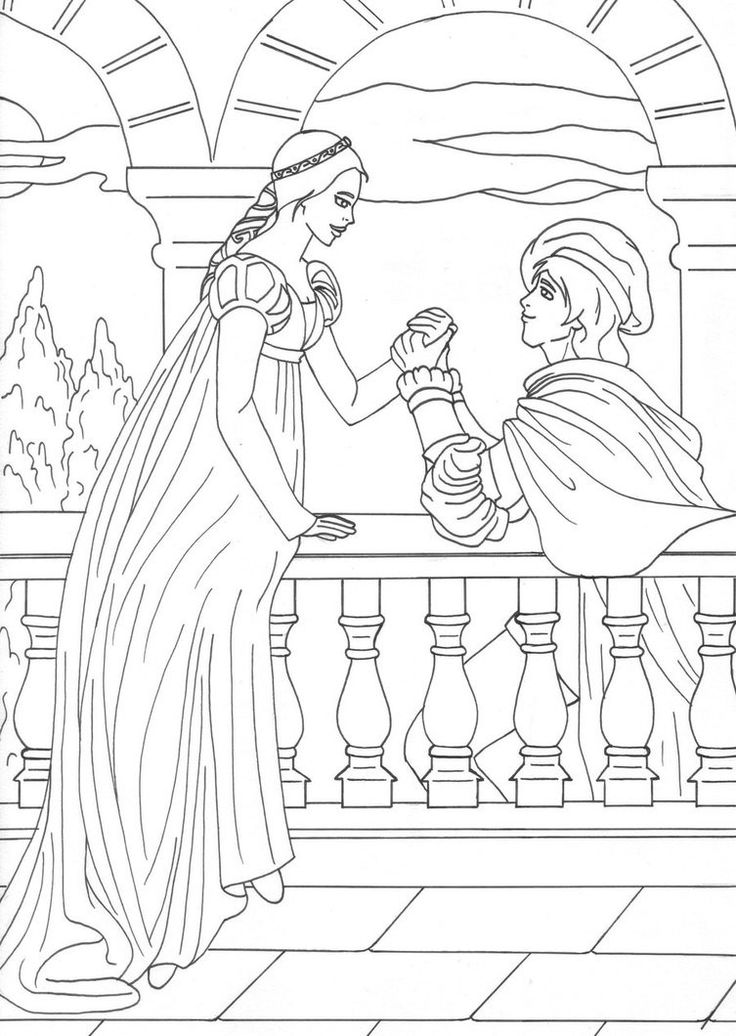 romeo and juliet coloring pages - photo#2