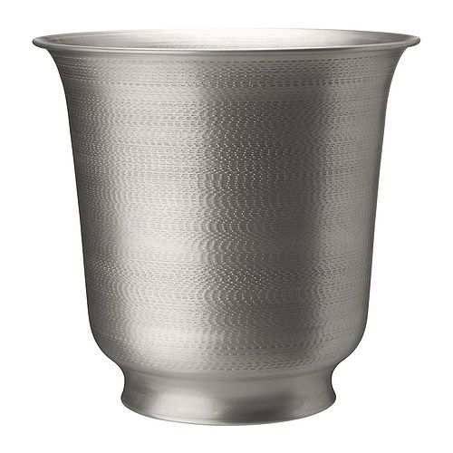 hasseln t plant pot silver colour. Black Bedroom Furniture Sets. Home Design Ideas