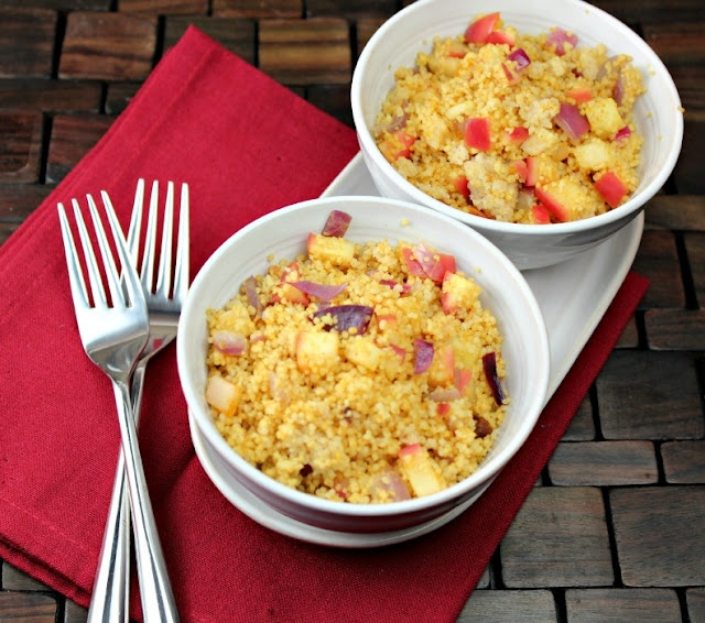 Apple Curry Couscous: http://www.generationyfoodie.com/2012/01/apple ...