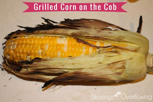 Grilled Corn on the Cob, no need for olive oil super sweet. Wrap in ...