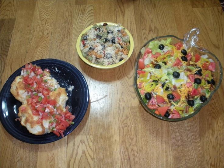 PARMESAN-CRUSTED BRUSCHETTA CHICKEN My version: Mix 1/2 cup parmesan ...