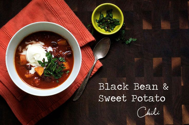 Black Bean & Sweet Potato Chili | Chili, soup, stew.... | Pinterest