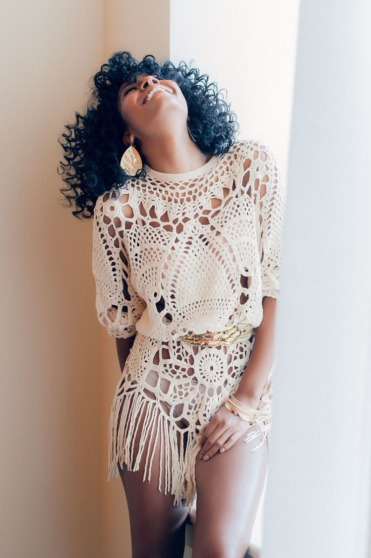 Crochet Clothing : Crochet sweater dress Crochet Pinterest