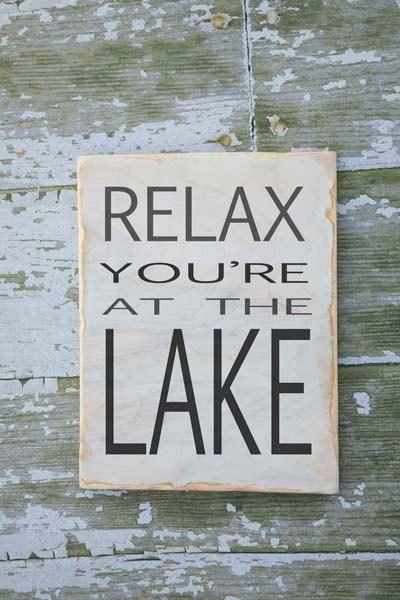 lake house decor - lake sign - lake decor - keep calm pretend lake - wood painted - rustic weathered - custom lake house decor - cabin