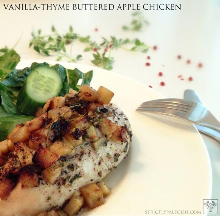 Vanilla-Thyme Buttered Apple Chicken | Recipes | Pinterest