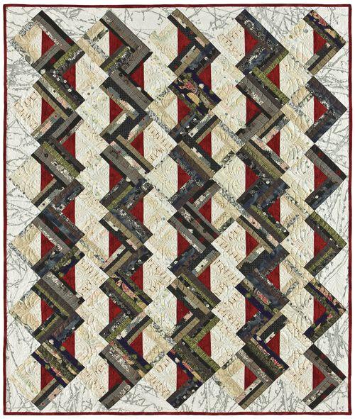 Strip Quilting Patterns Free : Zig Zag logs strip-pieced quilt pattern. Quilt ... STRIP PIECED P?