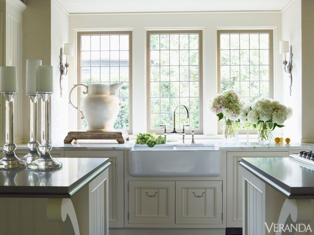 Farm sink open kitchens pinterest for Veranda window design