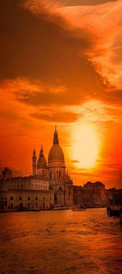 venice at sunset - photo #6