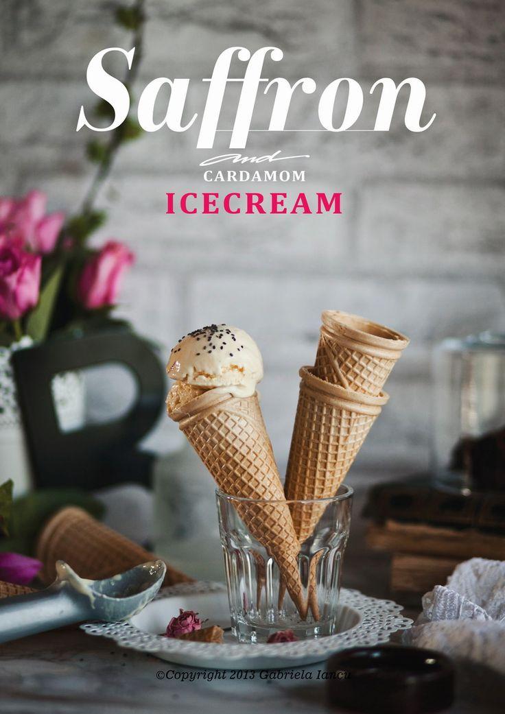 Coconut Milk, Saffron and Cardamom Homemade Ice-cream ©Copyright 2013 ...