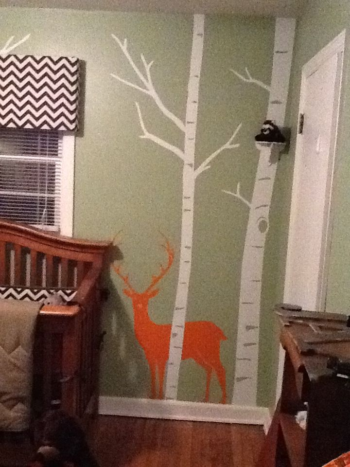 Baby boy nursery with deer theme the baby s room theme