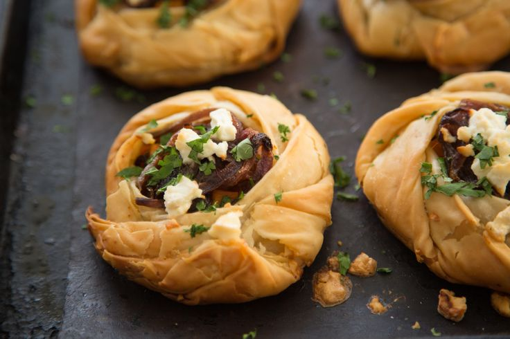 Sweet Caramelised Onion And Feta Tartlets Recipe — Dishmaps