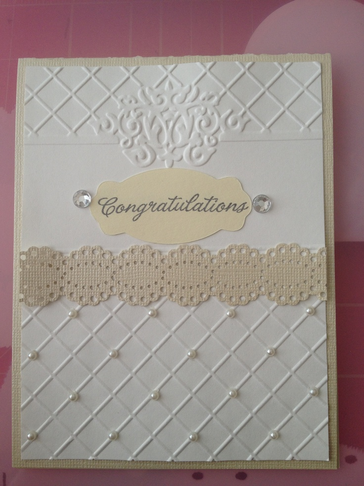 Wedding Card | Card Making | Pinterest: pinterest.com/pin/234609461810984527