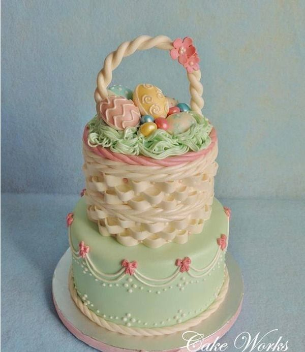 Easter Basket Cake Decorating Ideas : Easter basket cake Easter: Cakes Pinterest