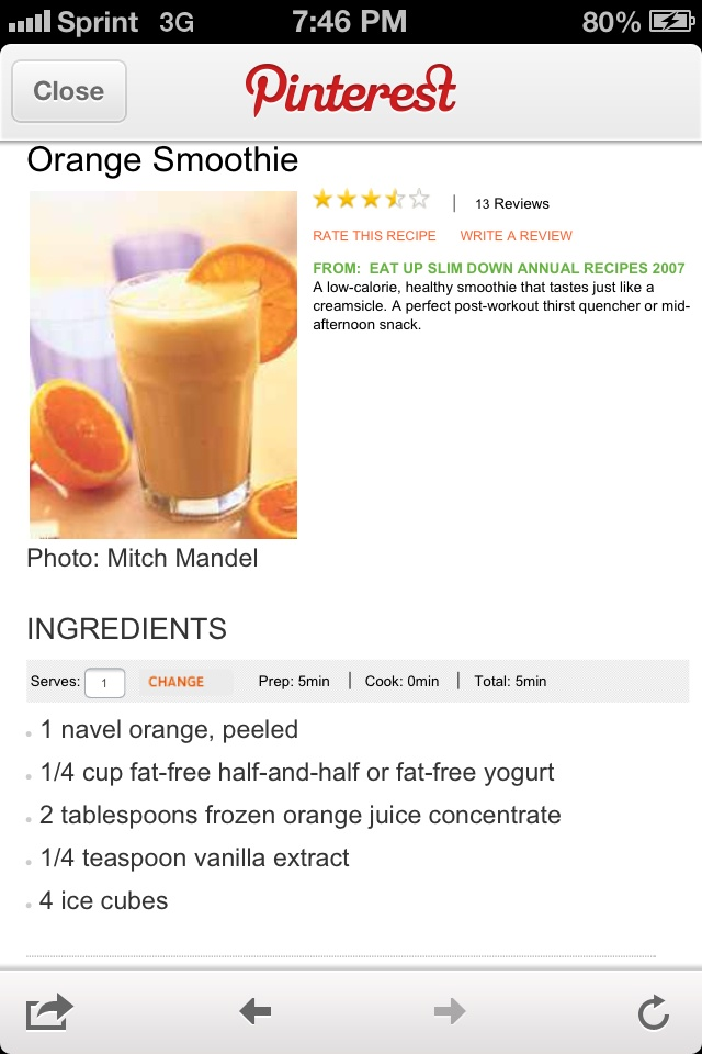 Orange cream shake | Shake it up 2013 | Pinterest