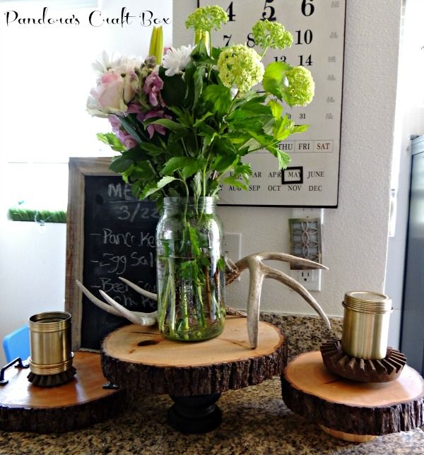 Cake Stand Home Decor : DIY Rustic Home Decor Wooden Cake Stand She s Crafty ...