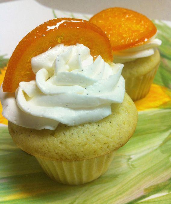 orange vanilla bean cupcake | Double Dutch Recipes | Pinterest