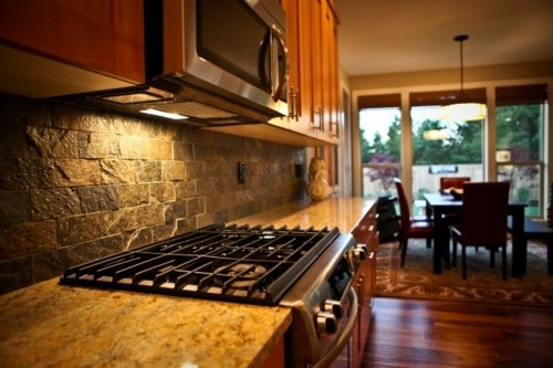 stone backsplash rustic look for the home pinterest