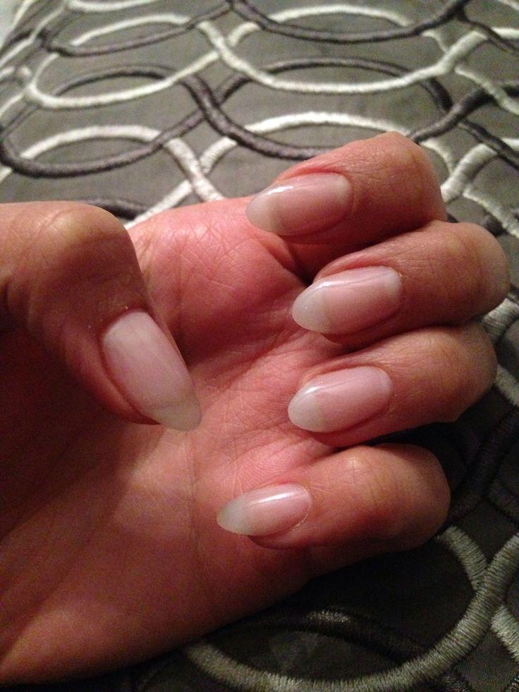Natural looking almond gel nails | Hair + Beauty | Pinterest