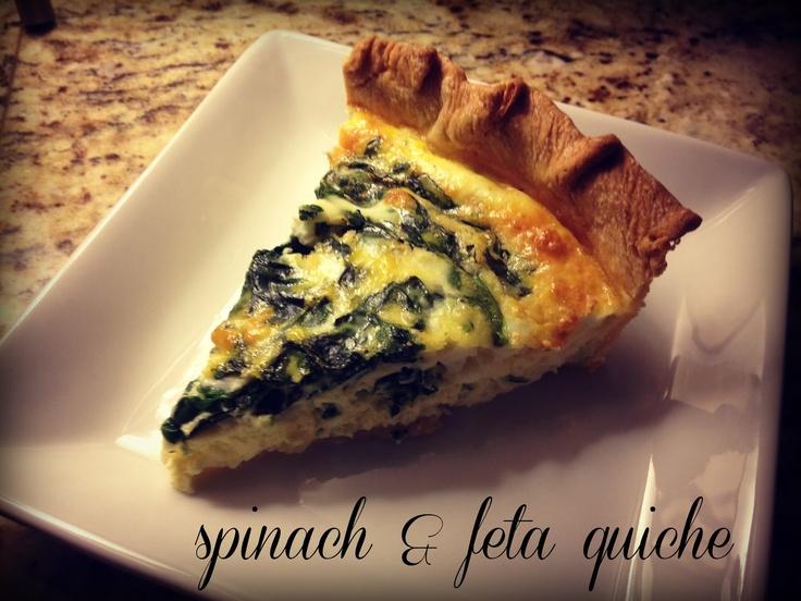 Spinach & Feta Quiche. In search of a good feta and spinach quiche ...