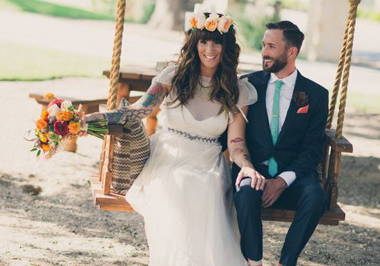 Colorful Bohemian wedding | Real Weddings and Parties | 100 Layer Cake