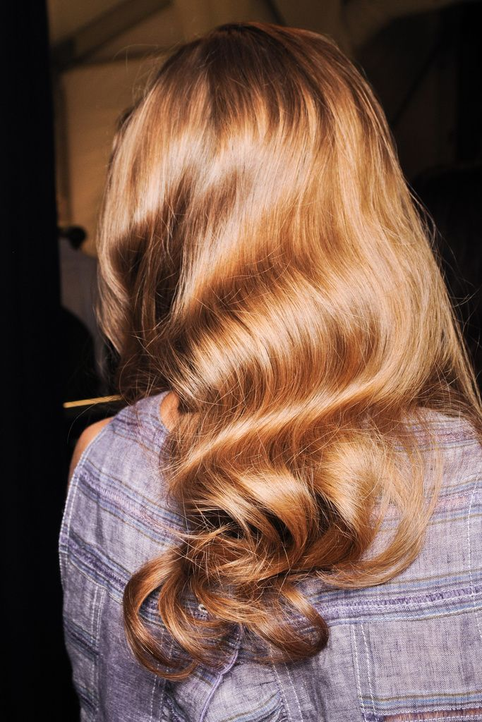 Strong, beautiful hair makes for the most gorg loose pin-curled waves on the #BestNightEver #hair