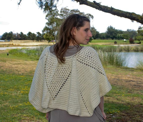 Crochet Patterns Merino Wool : Crochet Poncho Pattern, Textured Crochet, Merino Wool Crochet Poncho ...