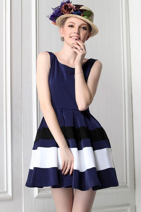Contrast Mini Dress