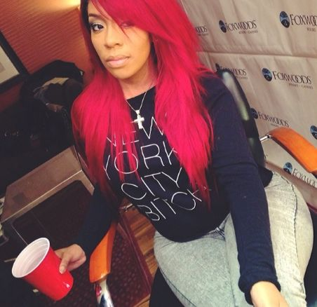 """K Michelle Red Hair Bob Michelle Reveals Past Issues With Alcohol: """"I Drank Every Single ..."""