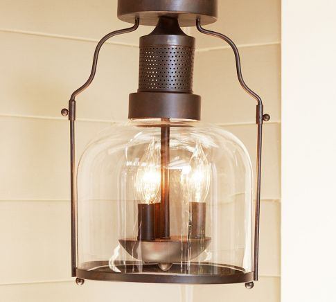 Netpotterybarn Lighting : ... Pottery Barn. Need to replace the flushmount light in the bathroom
