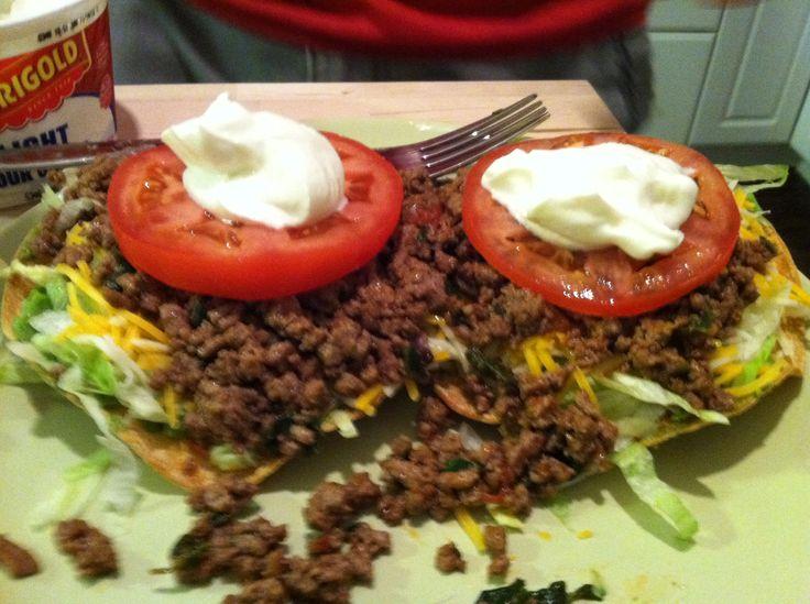 Beef tostadas | TOSTADA LOVE !!!!Mmm | Pinterest