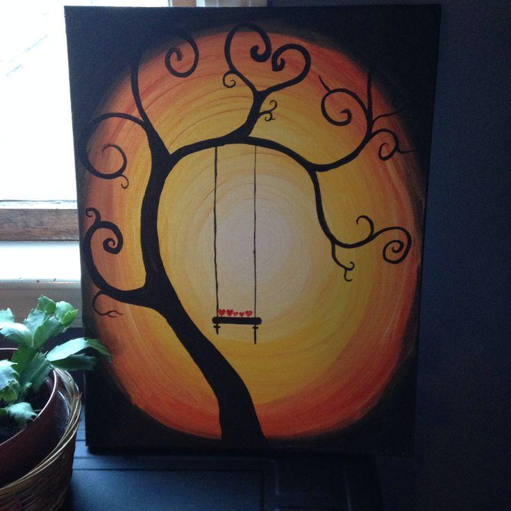 Tree swing painting | Paint ideas | Pinterest