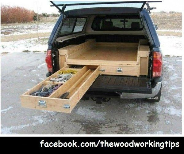 Pin homemade truck bed bike rack on pinterest - Homemade truck bed drawers ...