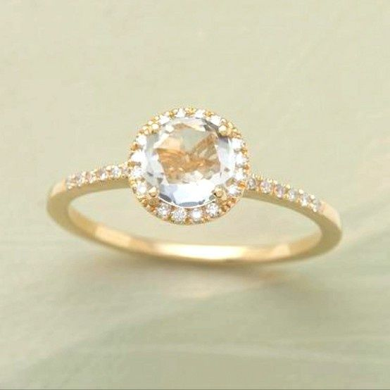 Gold engagement ring thin band Some day