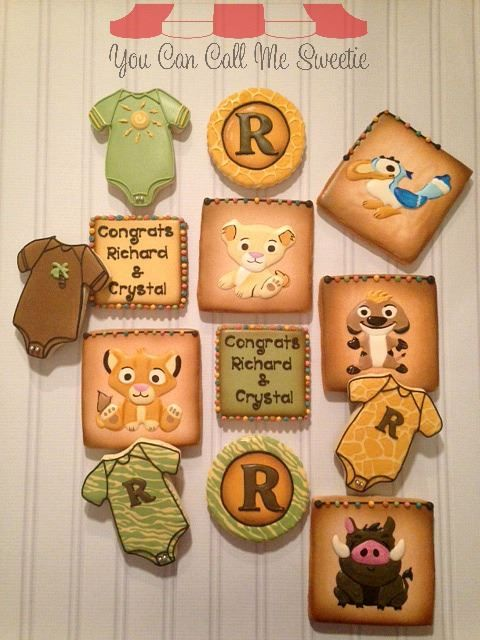 baby lion king baby shower cookies baby shower ideas pinterest